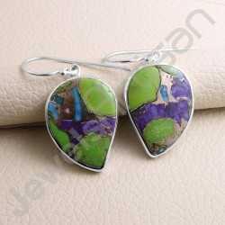 Turquoise Earrings 925 Sterling Silver Earring Handcrafted Silver Earring Dangle Drop Fancy Designer Turquoise Earring