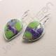 Fancy Turquoise Earring Dangle Drop Designer Earrings 925 Sterling Silver Earring Handcrafted Silver Earring