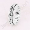 925 Sterling Silver Ring Spinner Ring Handmade Silver Ring Meditation Ring Thumb Ring Anxiety Ring Fashionable Ring