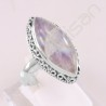 Rainbow Moonstone Ring 925 Sterling Silver Ring Marquise Fancy Gemstone Handcrafted Silver Ring