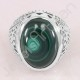 925 Sterling Silver Ring Malachite Ring Solitaire Silver Ring Oval 13x18mm Handmade Statement Silver Designer Ring