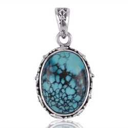 Sale Natural Turquoise Designer Jewelry Pendant Necklace Solid Silver