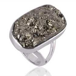 Pyrite Ring Sterling Silver Designer Ring All Sizes Available Ring