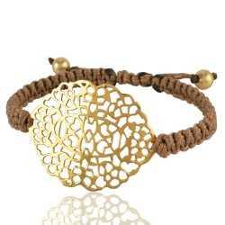Gold Plated Filigree Mecrame Bracelet Fashion Jewelry