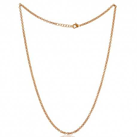 18K Gold Plated Link Chain 20 Inch Long