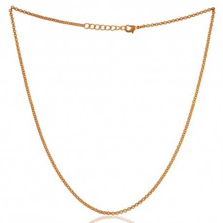 16 Inch Long Gold Plated Chain to Wear Everyday