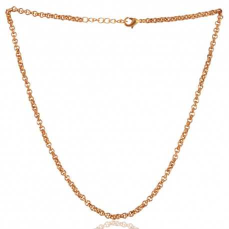 Simple Chain Gold Plated 16 Inch Chain