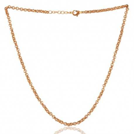 Simple Chain Gold Plated 18 Inch Chain