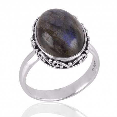 Labradorite Gemstone 925 Sterling Silver Ring