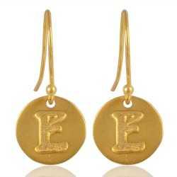"Alphabate ""E"" Charm Fashion Earrings For Girls and Womens"