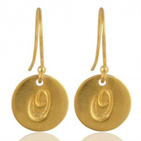 "Alphabate ""O"" Charm Fashion Earrings For Girls and Womens"