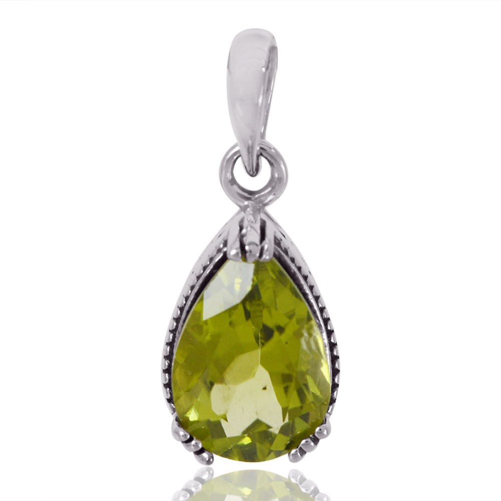 8.5 grams Details about  /Artisan Peridot Pendant 2.08 cts 925 Sterling Silver